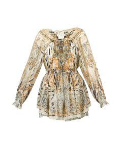 Sukienka CAMILLA TIERED MINI DRESS