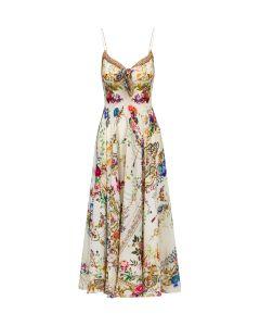 Sukienka CAMILLA LONG DRESS W/ TIE FRONT