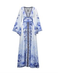 Sukienka CAMILLA KIMONO SLEEVE DRESS W/ SHIRRING DETAIL