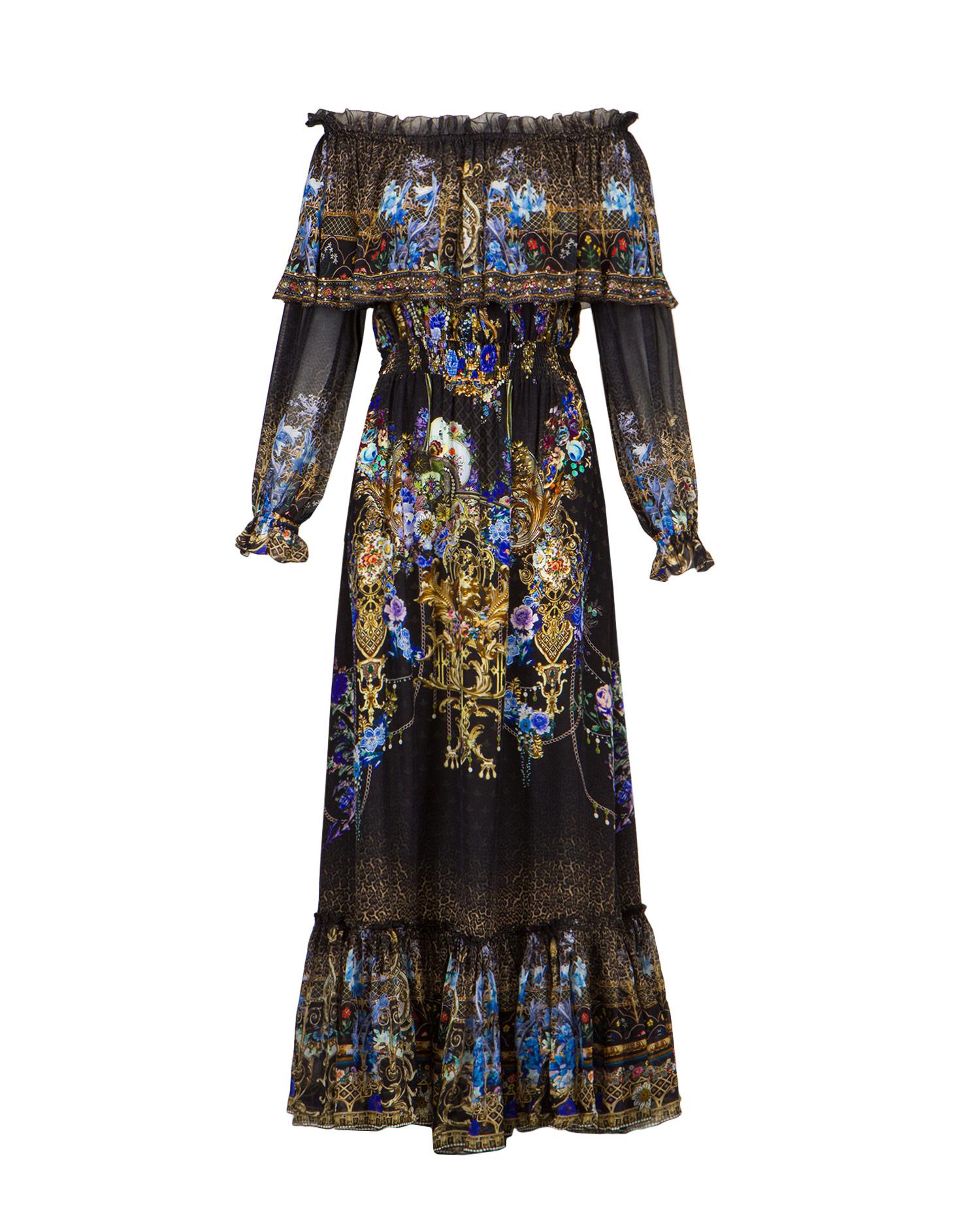 Šaty Camilla RUFFLE HEM LONG